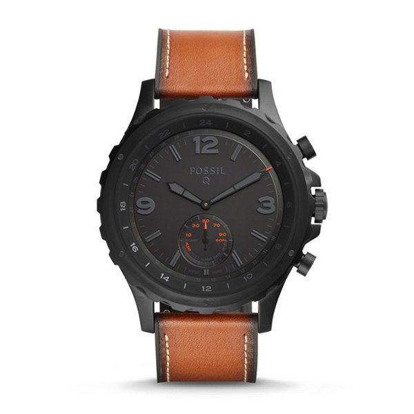 FOSSIL SMARTWATCH IBRIDO - Q NATE IN PELLE MARRONE SCURO