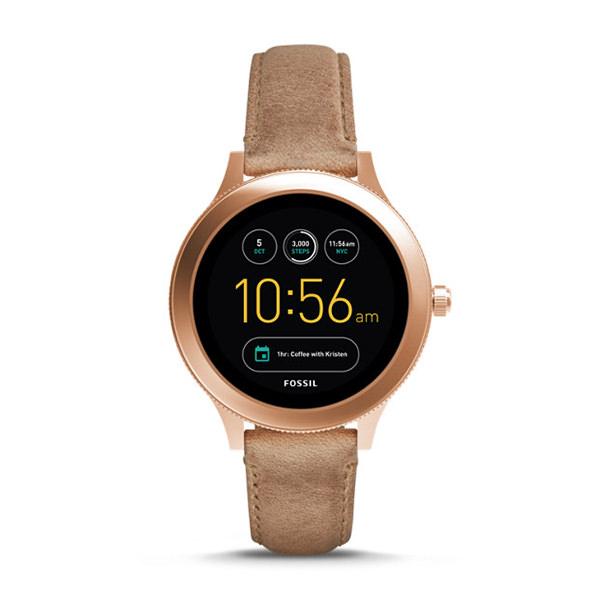 FOSSIL SMARTWATCH GEN 3 - Q VENTURE IN PELLE COLOR SABBIA
