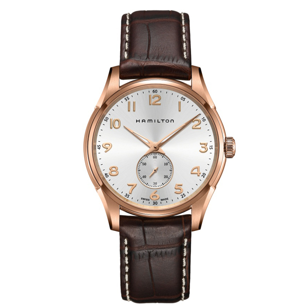 HAMILTON JAZZMASTER - thinline small second oro rosa