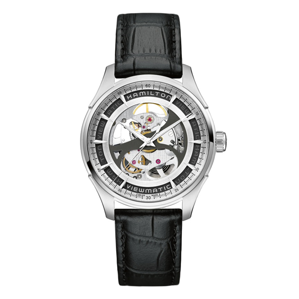 HAMILTON JAZZMASTER - viewmatic skeleton gent nero