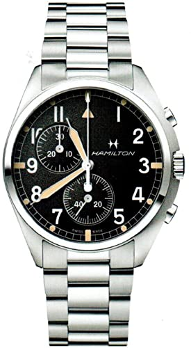 HAMILTON KHAKI-AVIATION - Pilot pioneer Chrono Quartz