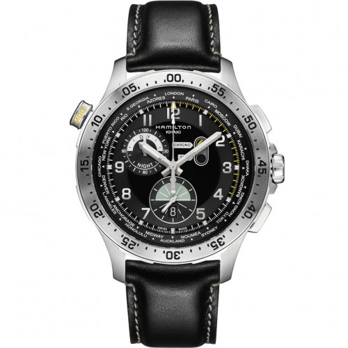 HAMILTON KHAKI-AVIATION - KHAKI AVIATION WORLDTIMER CHRONO QUARTZ