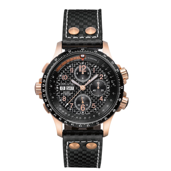 HAMILTON KHAKI-AVIATION - x - wind chrono oro rosa