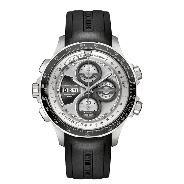 HAMILTON KHAKI-AVIATION - x - wind chrono gomma