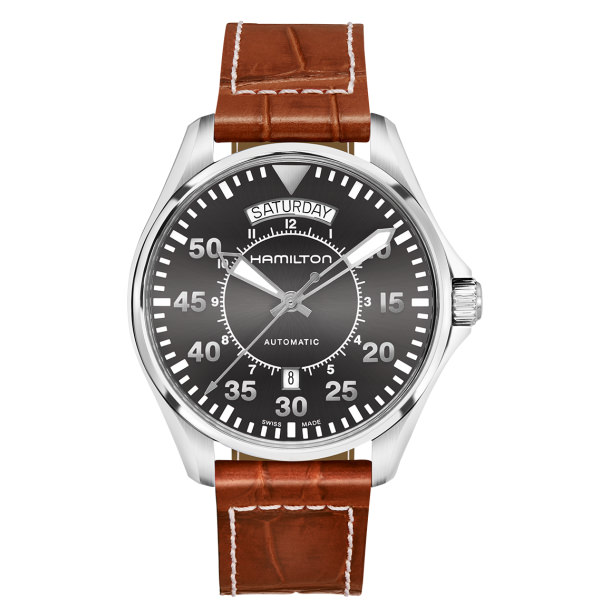 HAMILTON KHAKI-AVIATION - PILOT DAY DATE AUTO