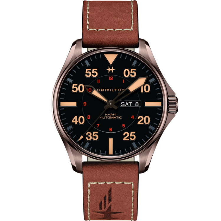 HAMILTON KHAKI-AVIATION - KHAKI AVIATION KHAKI PILOT DAY DATE AUTO