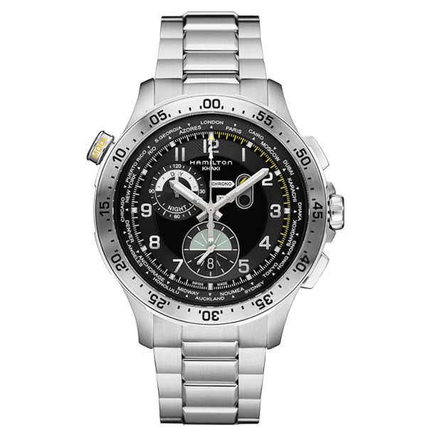 HAMILTON KHAKI-AVIATION - WORLDTIMER CHRONO QUARZO