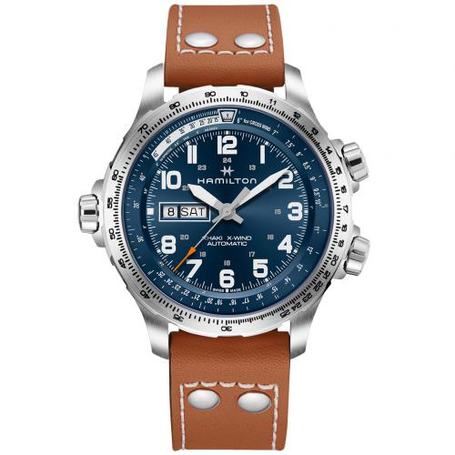 HAMILTON KHAKI-AVIATION - KHAKI AVIATION X-WIND DAY DATE AUTO