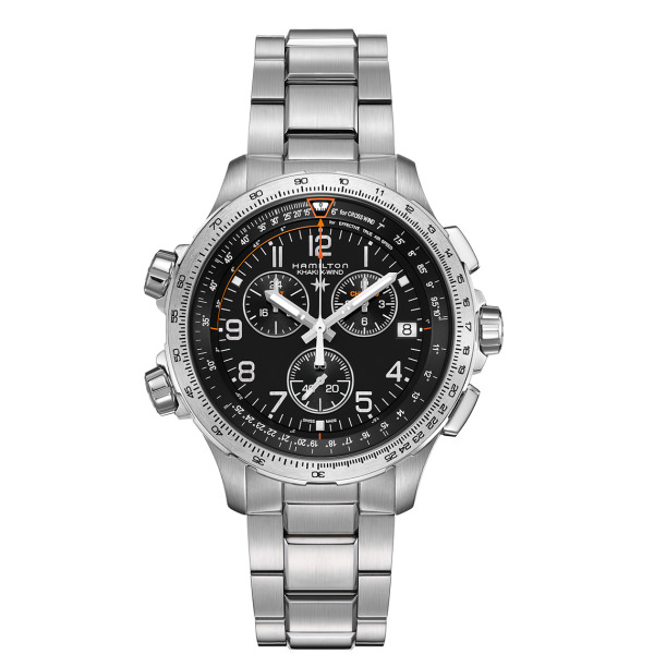 HAMILTON KHAKI-AVIATION - KHAKI AVIATION X-WIND GMT CHRONO QUARZO