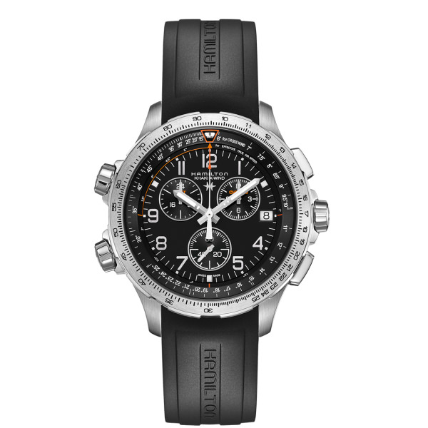 HAMILTON KHAKI-AVIATION - KHAKI X-WIND GMT CHRONO QUARZO