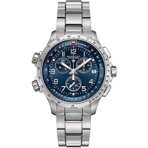 HAMILTON KHAKI-AVIATION - KHAKI AVIATION X-WIND GMT CHRONO QUARTZ