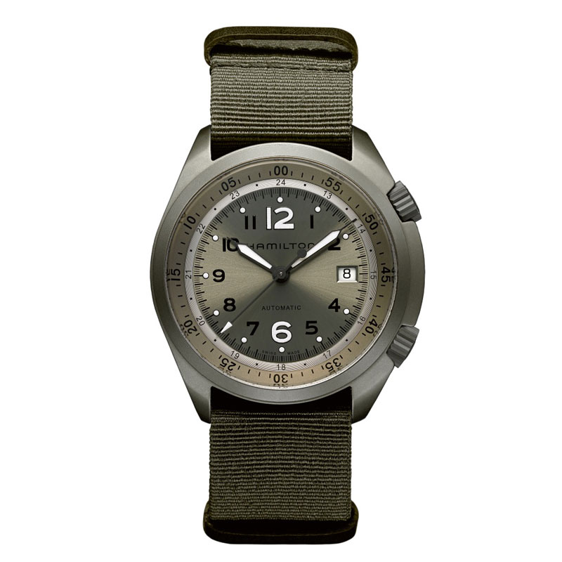 HAMILTON KHAKI-AVIATION - Pilot Pioneer Aluminium Quartz