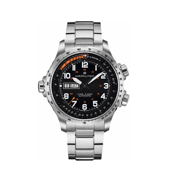 HAMILTON KHAKI-AVIATION - X-WIND DAY DATE AUTO
