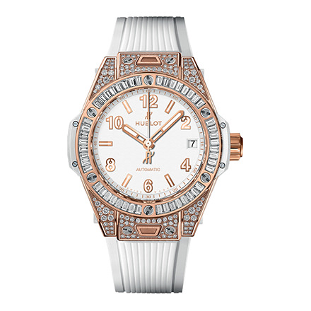 HUBLOT BIG BANG ONE CLICK KING GOLD WHITE JEWELLERY 39 mm