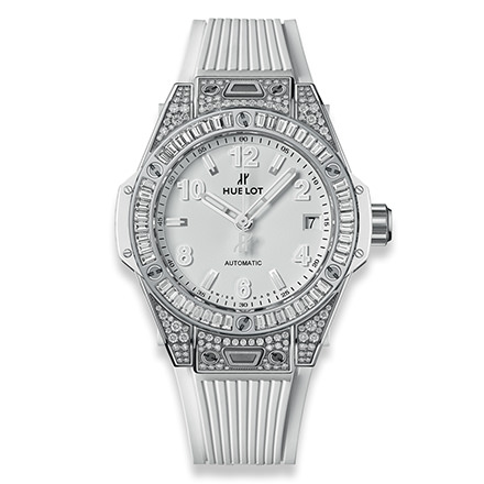 HUBLOT BIG BANG ONE CLICK STEEL WHITE JEWELLERY 39 mm