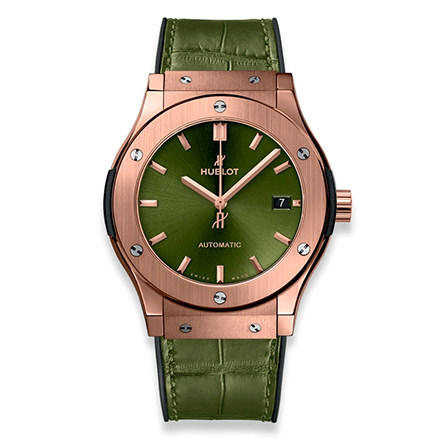 HUBLOT CLASSIC FUSION KING GOLD GREEN 45 MM