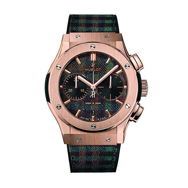 HUBLOT CHRONOGRAPH ITALIA INDEPENDENT TARTAN KING ORO - 45 MM