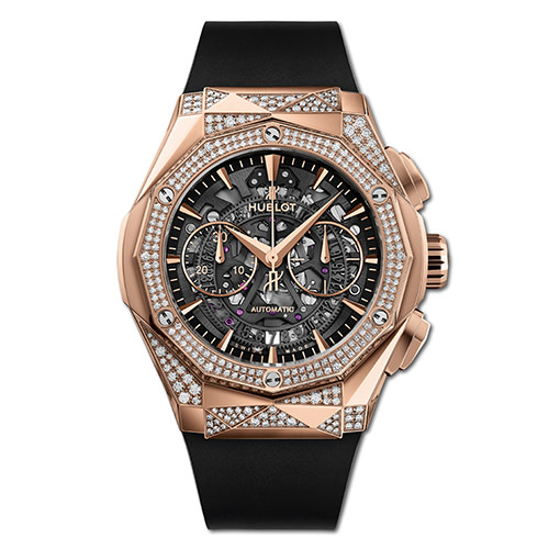 HUBLOT CLASSIC FUSION AEROFUSION CHRONOGRAPH ORLINSKI KING GOLD ALTERNATIVE PAVÉ
