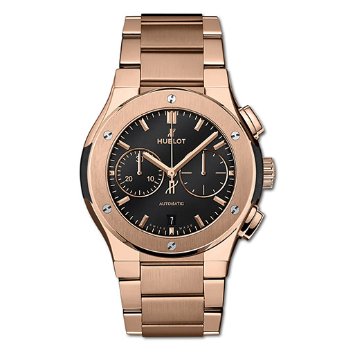 HUBLOT CLASSIC FUSION CHRONOGRAPH KING GOLD BRACELET 42 mm