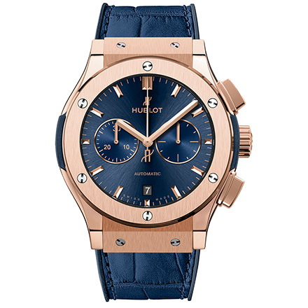 HUBLOT BLUE CHRONOGRAPH KING GOLD 42 mm