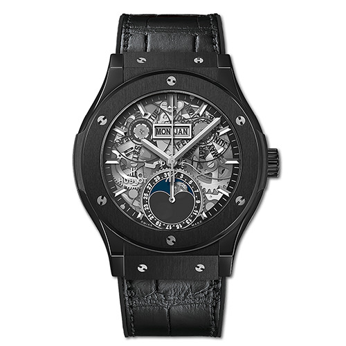 HUBLOT CLASSIC FUSION AEROFUSION MOONPHASE BLACK MAGIC 42 mm