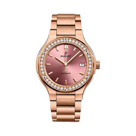 HUBLOT KING GOLD PINK BRACELET 38 mm