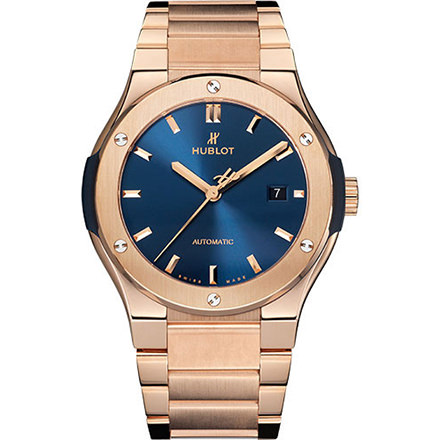 HUBLOT KING GOLD BLUE BRACELET