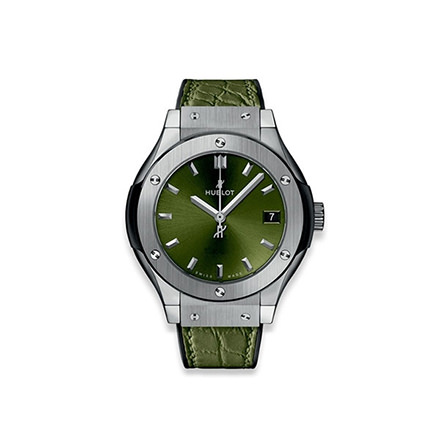 HUBLOT CLASSIC FUSION TITANIUM GREEN 33 MM QUARZO