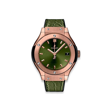 HUBLOT CLASSIC FUSION KING GOLD GREEN 33 MM QUARZO