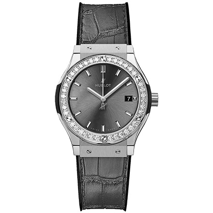 HUBLOT CLASSIC FUSION RACING GREY TITANIUM DIAMONDS 33 mm