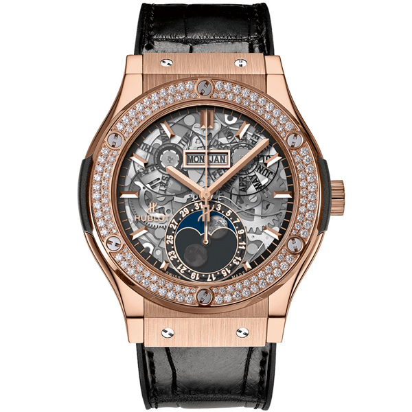 HUBLOT Aerofusion Moonphase King Gold Diamonds