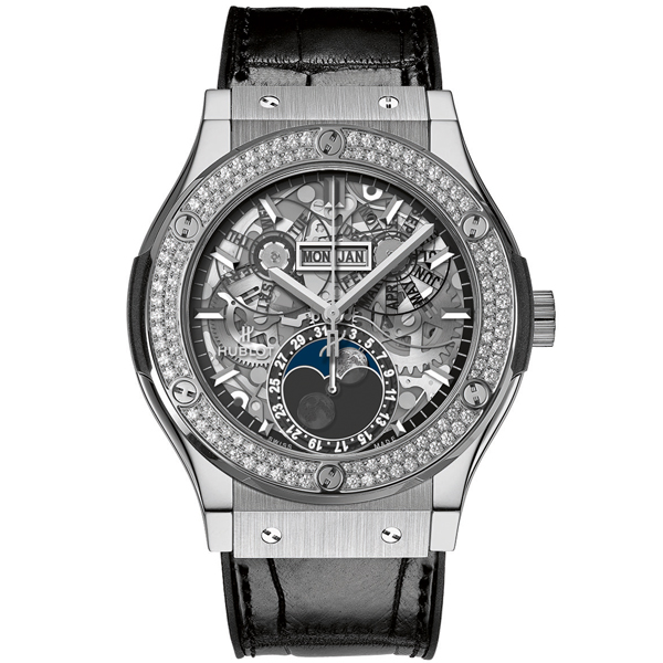 HUBLOT Aerofusion Moonphase Titanium Diamonds