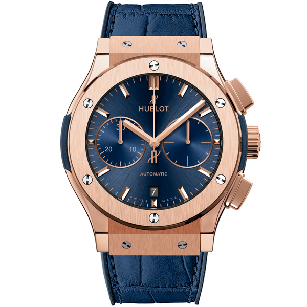 HUBLOT Blue Chronograph King Gold