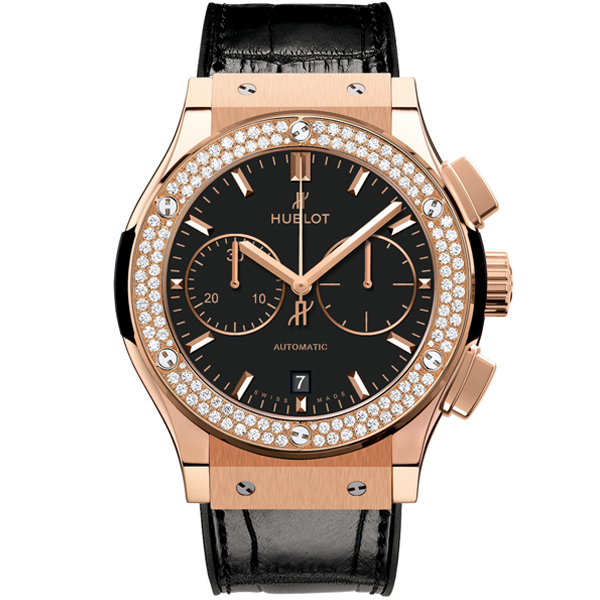 HUBLOT Chronograph King Gold Diamonds