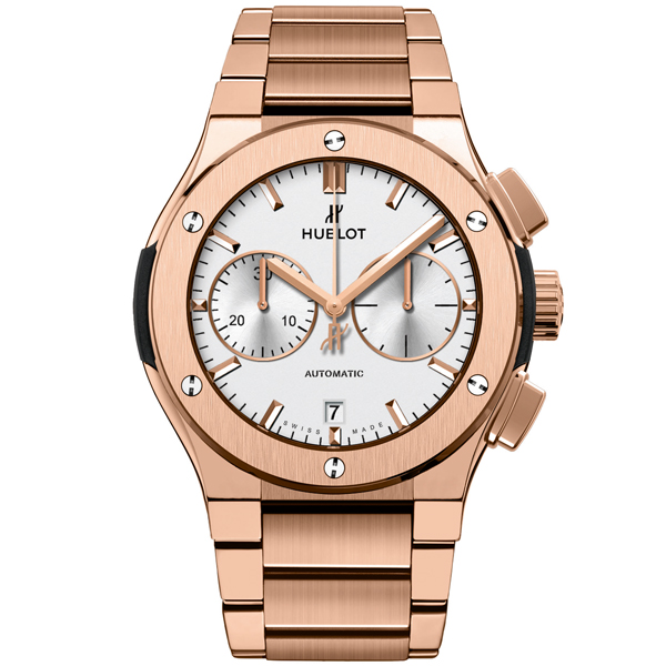 HUBLOT Chronograph King Gold Opalin Bracelet