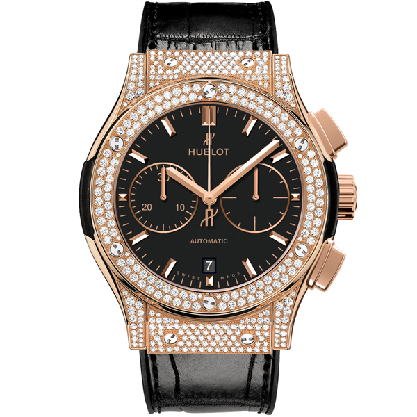 HUBLOT Chronograph King Gold Pave'