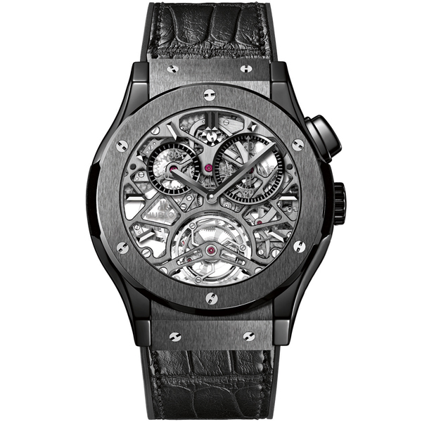 HUBLOT Tourbillon Skeleton All Black