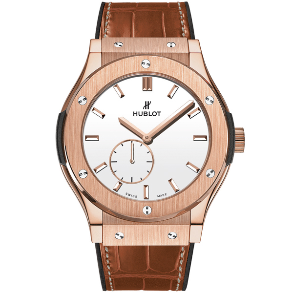 HUBLOT Ultra-Thin King Gold White Shiny Dial