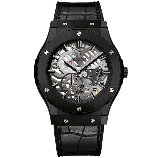 HUBLOT Ultra-Thin Skeleton All Black