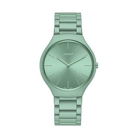 RADO TRUE THINLINE LES COULEURS™ LE CORBUSIER SLIGHTLY GREYED ENGLISH GREEN 32041