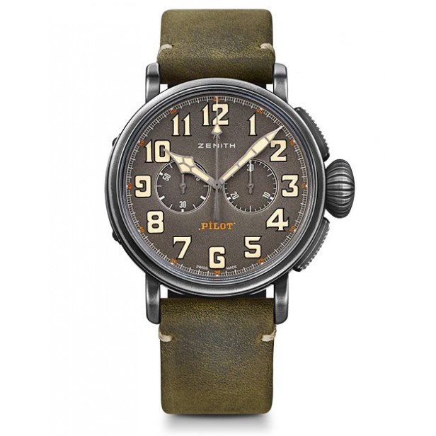 ZENITH PILOT - PILOT TYPE 20 CHRONOGRAPH - TON UP - 45.00