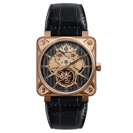 bell-ross BR 01 TOURBILLON ROSE GOLD & TITANIUM