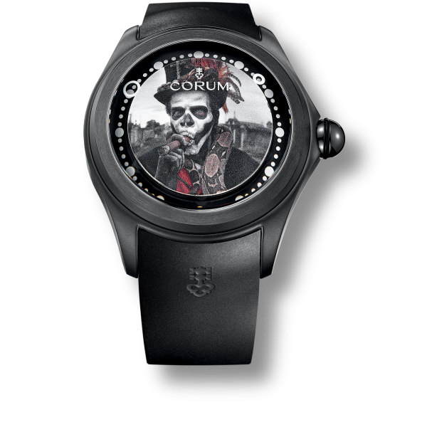 corum BIG BUBBLE Magical 52 3d Skull