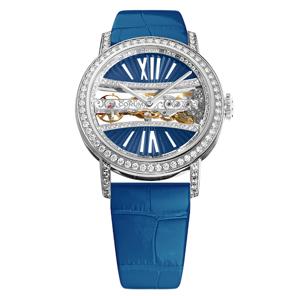 corum golden bridge round 39 azzurro