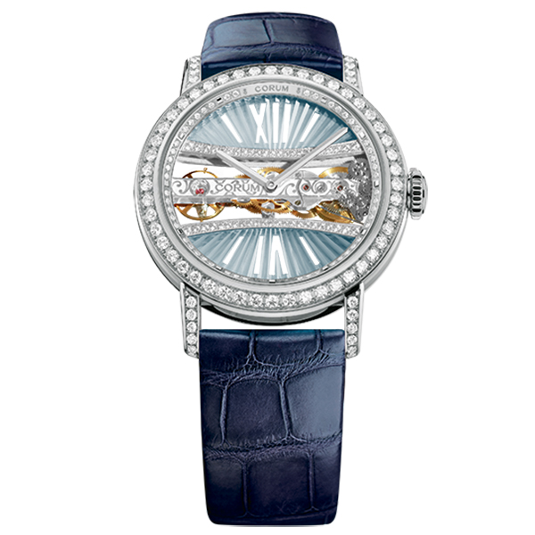 corum golden bridge round 39 blu