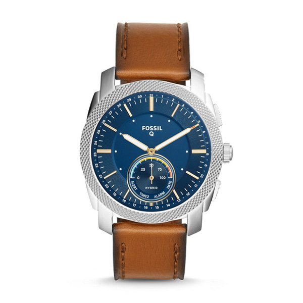 fossil SMARTWATCH IBRIDO - Q MACHINE CON CINTURINO IN PELLE MARRONE