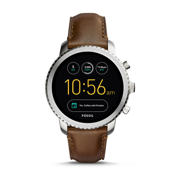 fossil SMARTWATCH GEN 3 - Q EXPLORIST IN PELLE MARRONE