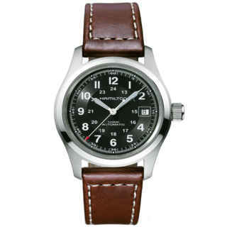 hamilton khaki-field - auto 38 mm nero