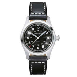 hamilton khaki-field - auto 38 mm tutto nero
