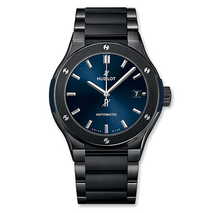 hublot CLASSIC FUSION BLACK MAGIC BRACIALET BLU 45 MM